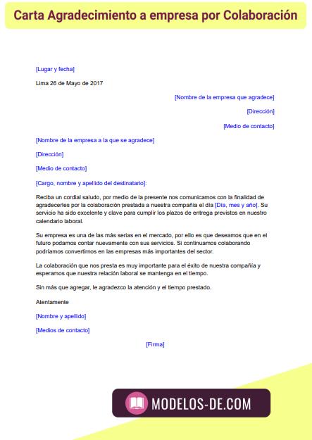 modelo-carta-agradecimiento-a-empresa-por-colaboracion