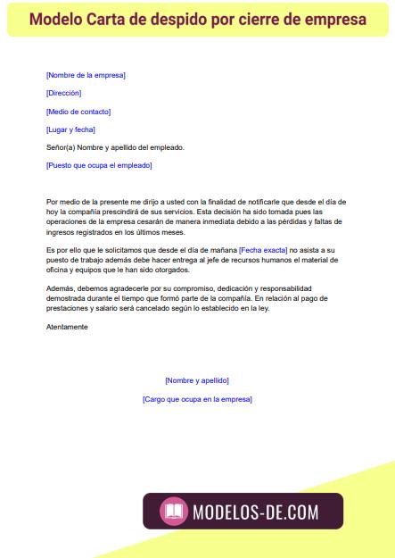 modelo-carta-despido-cierre-empresa
