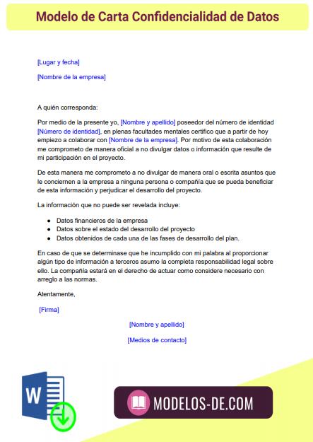 modelo-carta-confidencialidad-de-datos
