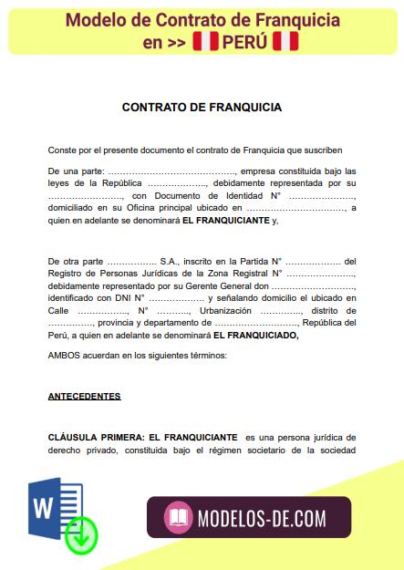 modelo-contrato-franquicia-peru-ejemplo-formato