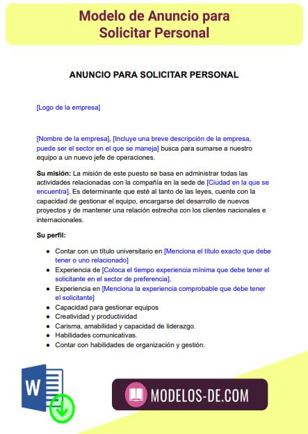 modelo-anuncio-solicitar-personal-seleccion-personal-oferta-empleo-ejemplo-formato