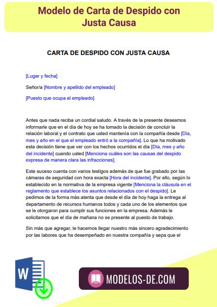 modelo-carta-despido-con-causa-justa-ejemplo-formato