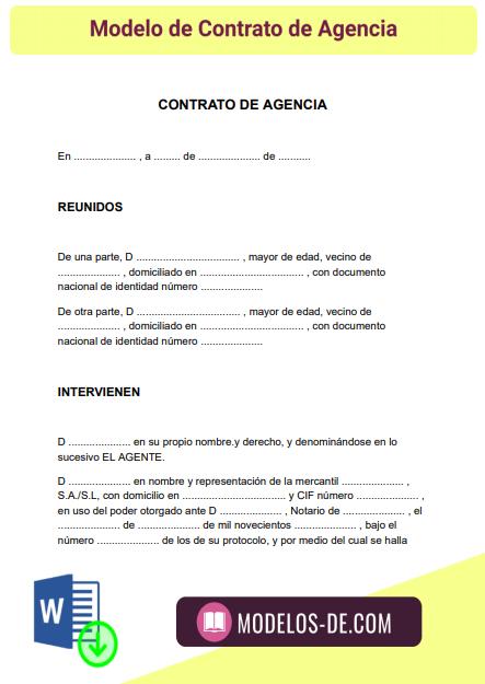 modelo-contrato-agencia-ejemplo-formato