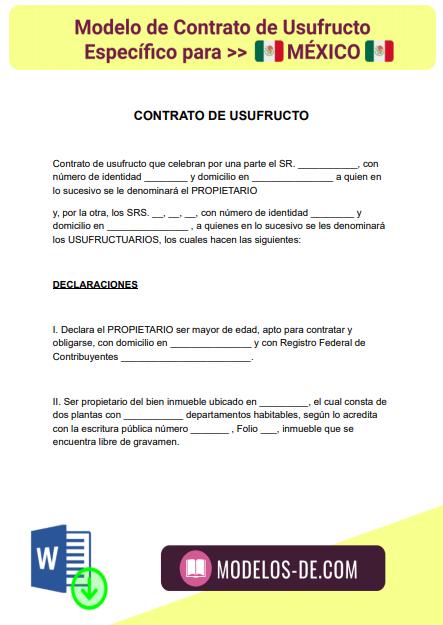 modelo-contrato-usufructo-mexico-ejemplo-formato