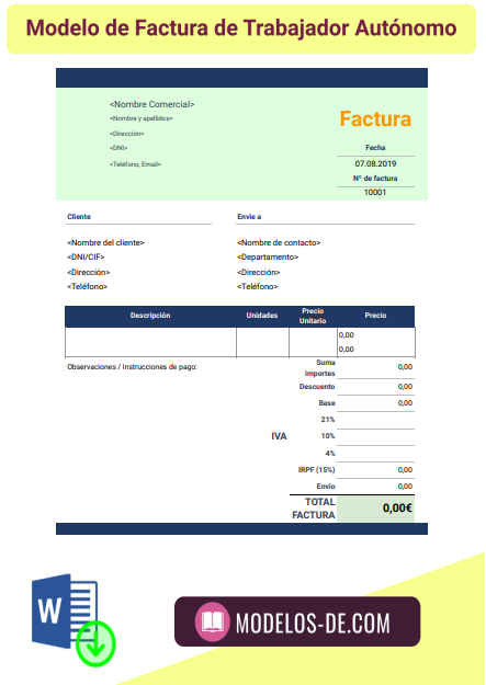 modelo-factura-trabajador-autonomo-con-irpf-ejemplo-plantilla