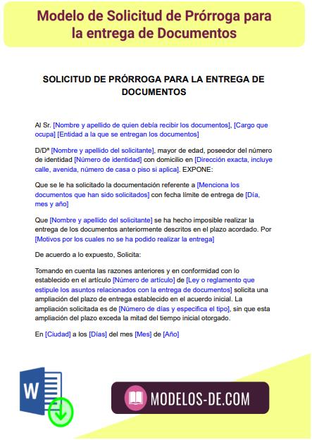 modelo-solicitud-prorroga-entrega-documentos-ejemplo-formato