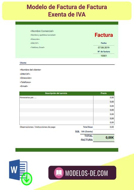 plantilla-modelo-factura-exenta-iva