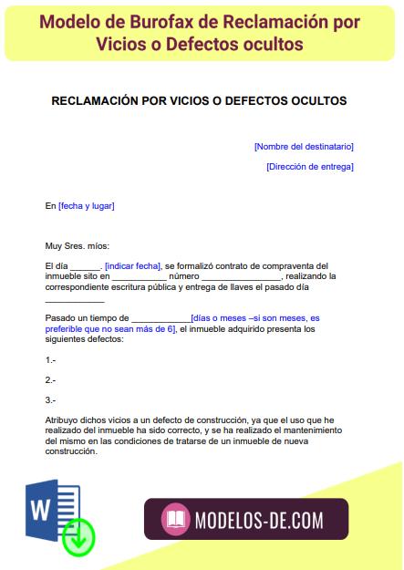 modelo-burofax-reclamacion-vicios-defectos-ocultos