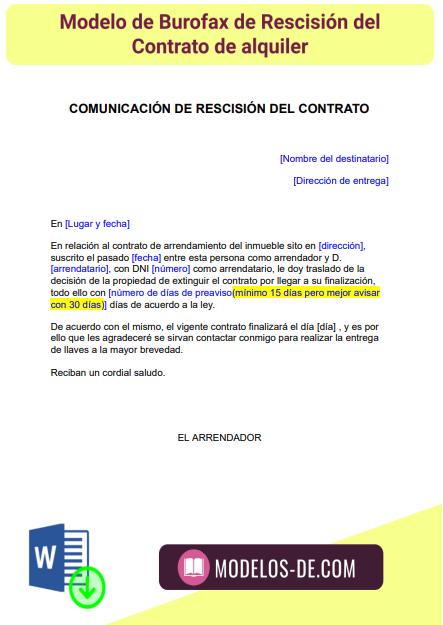 modelo-burofax-rescision-contrato-alquiler-arrendamiento