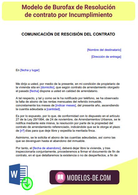 modelo-burofax-resolucion-contrato-por-incumplimiento