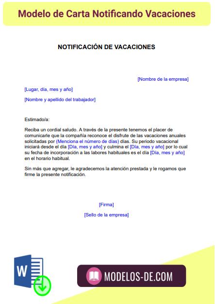 modelo-carta-notificando-vacaciones