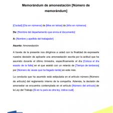 modelo-memorando-memorandum-amonestacion