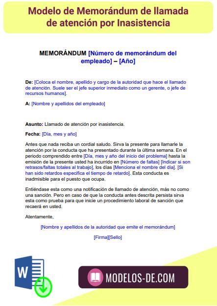 modelo-memorandum-memorando-llamada-atencion-inasistencia-falta-asistencia-retrasos