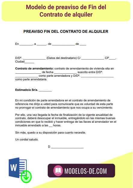 modelo-preaviso-fin-contrato-alquiler-arrendamiento