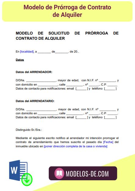 modelo-prorroga-contrato-alquiler-arrendamiento