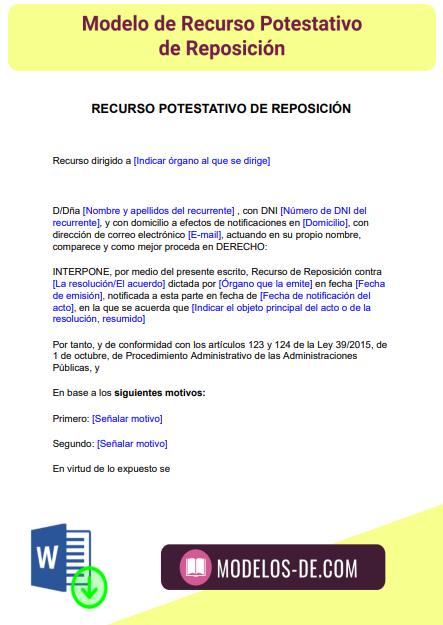 plantilla-modelo-recurso-potestativo-reposicion