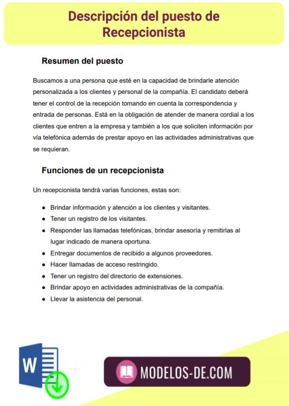 ejemplo-modelo-formato-plantilla-descripcion-puesto-recepcionista