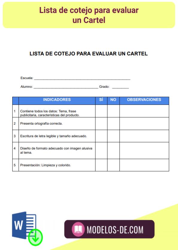 modelo-plantilla-formato-lista-cotejo-evaluar-cartel